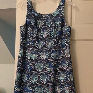 NWOT Lilly Pulitzer Bay Blue Shell Eyelet Shift